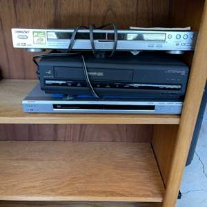 Lot # 340 Lot of DVD and VHS Players