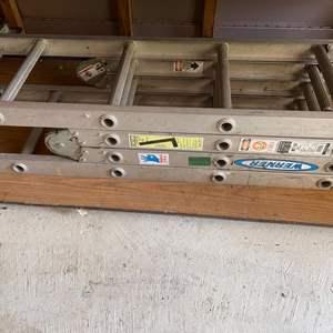 Lot # 353 Folding Aluminum Ladder