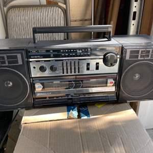 Lot # 356 Sanyo Brand Boombox/Soundboard