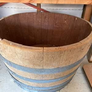 Lot # 359 Half Barrel Planter