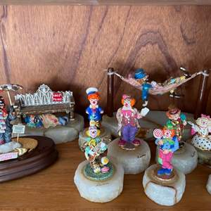 Lot # 360 Lot of Ron Lee Clown Figurines, One with Wood Base is Musical