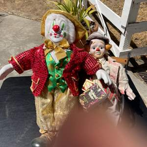 Lot # 381 Two Clown Dolls (Finger Not Included)