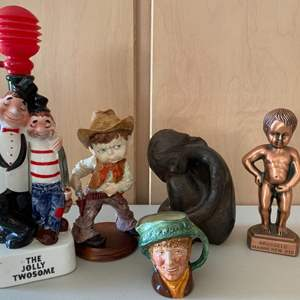 Lot # 383 Glass and Metal Figurines of Children