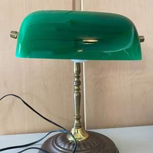 Lot # 386 Green Desk Lamp