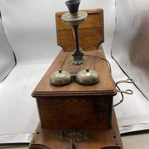 Lot # 5 Vintage Mountable Telephone (Needs Some Repair)