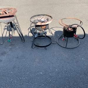 Lot # 7 Lot of 3 Propane Burner Stands - Untested