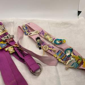 Lot # 14 Collectible Disneyland Lanyards with Pins