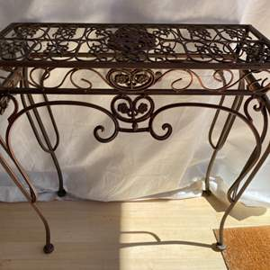 Lot # 27 Wrought Iron Plant Stand