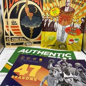 Lot # 28 Lot of Posters - Sports, Deer Tick, St.Paul and the Broken Bones