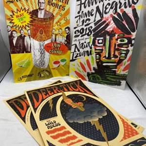 Lot # 29 Lot of Posters - Deer Tick, St.Paul and the Broken Bones, Fantastic Time Negrilo