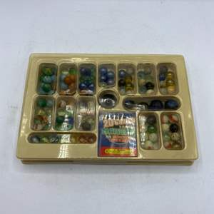 Lot # 31 Marble Game Set with Booklet on How To Play 20 Different Marble Games
