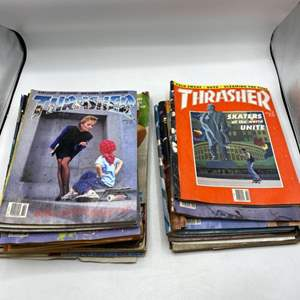 Lot # 38 Lot of Magazines (Thrasher, Her, Motocycle)
