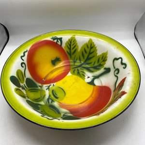 Lot # 41 Large Enamel Fruit Bowl
