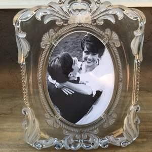 Lot # 53 Mikasa Crystal Picture Frame - Photo Included
