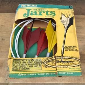 Lot # 66 Vintage Regent Slider Jarts  w/Rings and Manual Model #73929