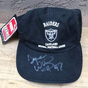 Lot # 67 Tyrone Wheatley? Signed Raiders Hat