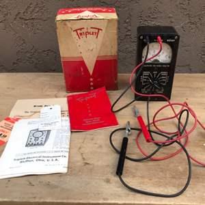 Lot # 88 Vintage Triplett Pocket Voltmeter Ohmmeter Multimeter - Untested