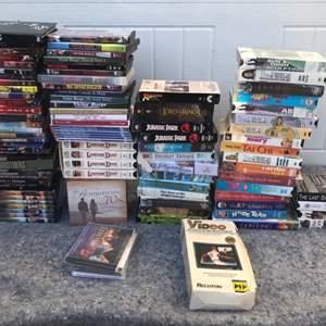 Lot # 91 Large DVD/VHS Lot