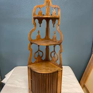 Lot # 8 Small Decorative Shelving Unit, Wooden - Some Cracking