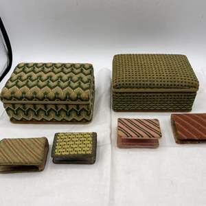 Lot # 20 Cigarette Boxes and Match Holders