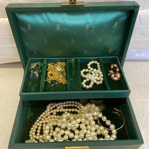 Lot # 63 Lot of Jewelry in a Jewelry Box