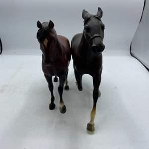 Lot # 250 Brown and Black Breyer Horses
