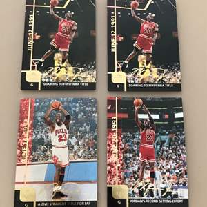 Auction Thumbnail for: Lot # 60 Lot of 9 MICHAEL JORDAN 1999 Upper Deck Gatorade Jumbo Cards