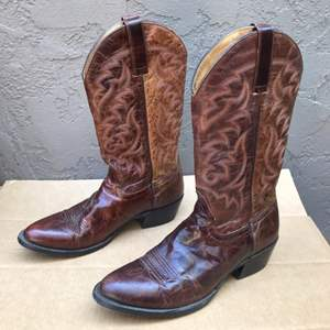 Auction Thumbnail for: Lot # 78 Moon Shine Men's 9 D Brown Leather Boots