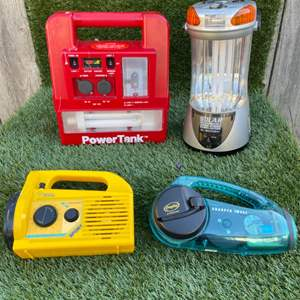 Lot # 95 Solar, Radio, and Power Booster Flashlights