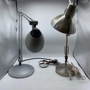 074 - Two Adjustable Arm Desk Lamps