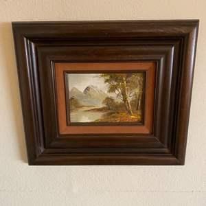 Lot # 4 Framed Print of Nature, Signed
