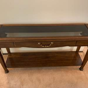 Lot # 10 Entry or Sofa Glass Top Table