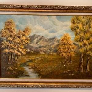 Lot # 18 Framed Print of Nature, Signed