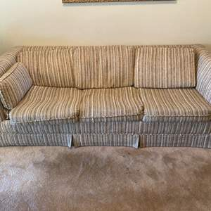 Lot # 19 Stripe Pattern Couch