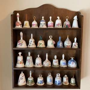 Lot # 21 Wooden Display Shelf - Bells Not Included