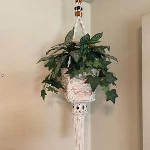 Lot # 31 Hanging Indoor Artificial Plant in Basket