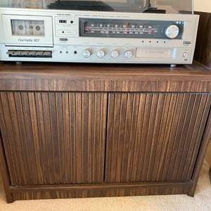 Lot # 33 Piece of Wooden Furniture From Entertainment System **