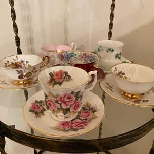 Lot # 47 Six Teacup Sets From Different Makers