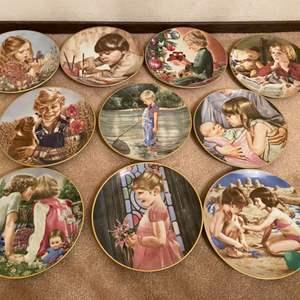 "Lot # 57 ""Magic Moments of Childhood"" Collectors Plate Set, Bavarian Porcelain"