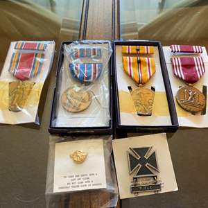 Lot # 59 Lot of Military Badges and Awards