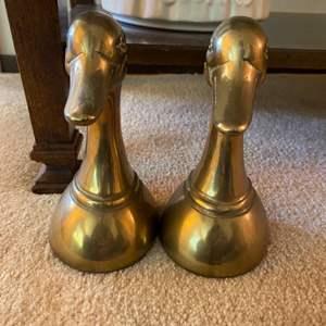 Lot # 63 Pair of Brass Duck Bookends