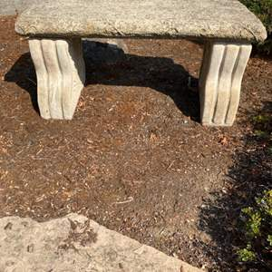 Lot # 73 Outdoor Stone Bench