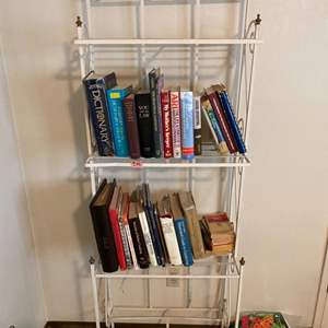 Lot # 86 Metal Shelving Unit - Books NOT Included