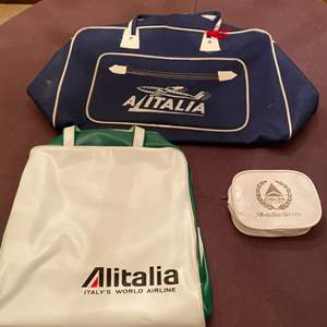 Lot # 88 Lot of Airline Bags - Delta and Alitalia