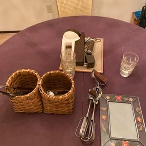 Lot # 90 Lot of Collectables - Shot Glasses, Flashlight, Picture Frame, Etc.