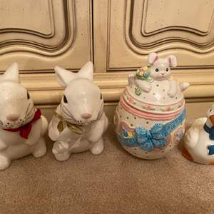 Lot # 99 Lot of Easter Figurines - Bunnies and Duck?