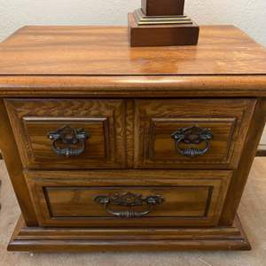 Lot # 104 Small Table with Two Drawers