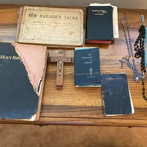 Lot # 113 Lot of Sacred Texts and Other Religious Items