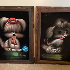 Lot # 120 Cartoonish Prints of Dogs, Signed