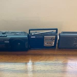 Lot # 123 Lot of Three Radios